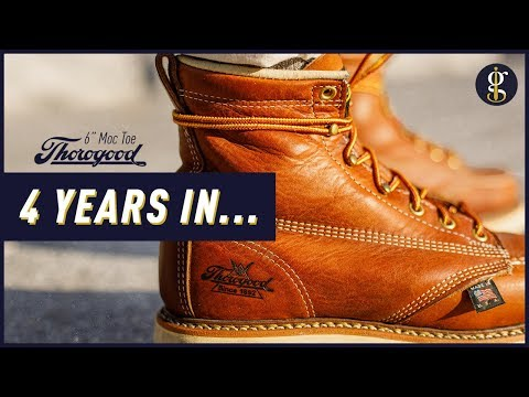 THOROGOOD MOC TOE BOOTS REVIEW   4 Year Update   Stylish 6 Inch Tobacco Heritage Boot