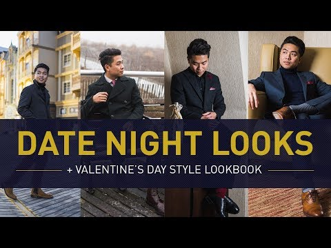 DATE NIGHT OUTFIT IDEAS For Men   Valentine's Day Winter Style Lookbook