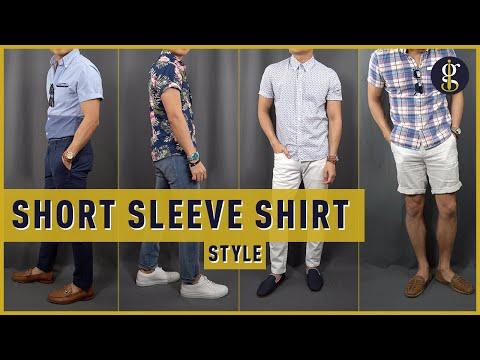 How to Wear a Short Sleeve Button Up Shirt 6 Ways (Casual Outfit Ideas for Men)