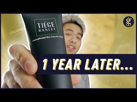 TIEGE HANLEY REVIEW: 1 Year Update   Why I'm Still Using It (Men's Skin Care Routine 2020)