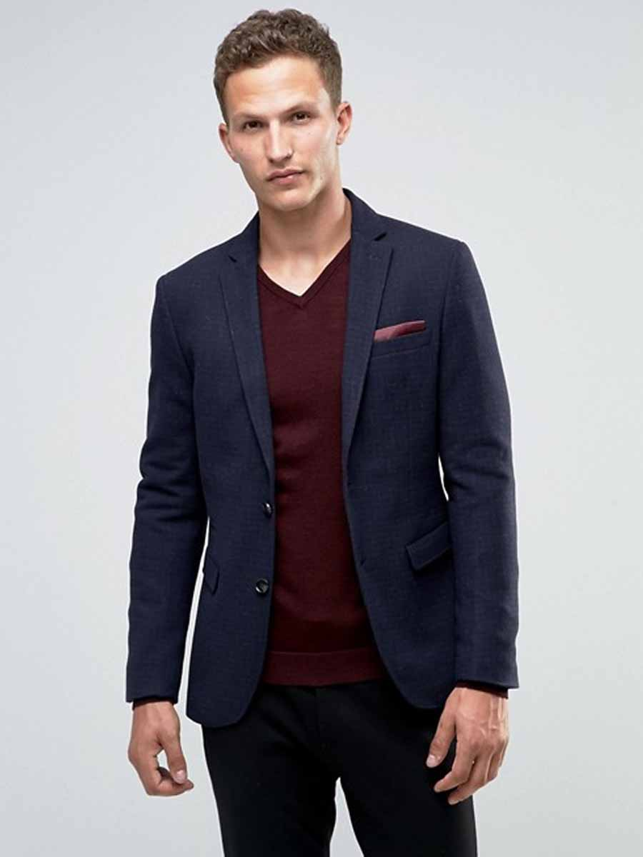 c1e16d6670 Navy Blue Blazer  Men s Outfit Essential